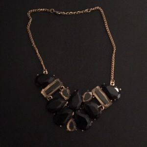 Jewelry - Black and clear gem necklace